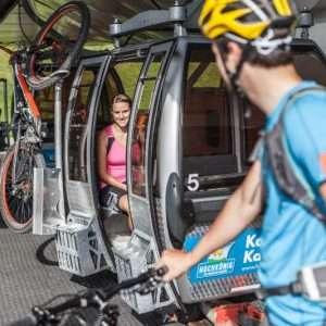 Fahrradtransport auf den Bergliften, Hochkoeing