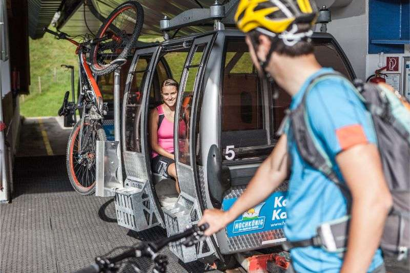 Bike transport on the mountain lifts, Hochkoeing