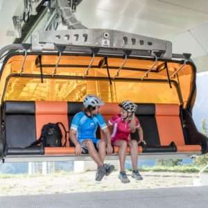 Bike transport on chairlifts in the Hochkoenig