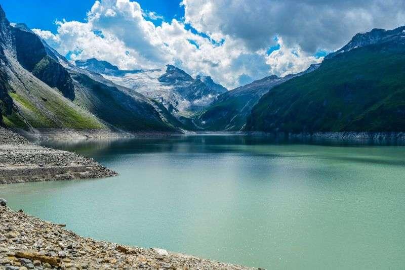 Alpská jezera Kaprun