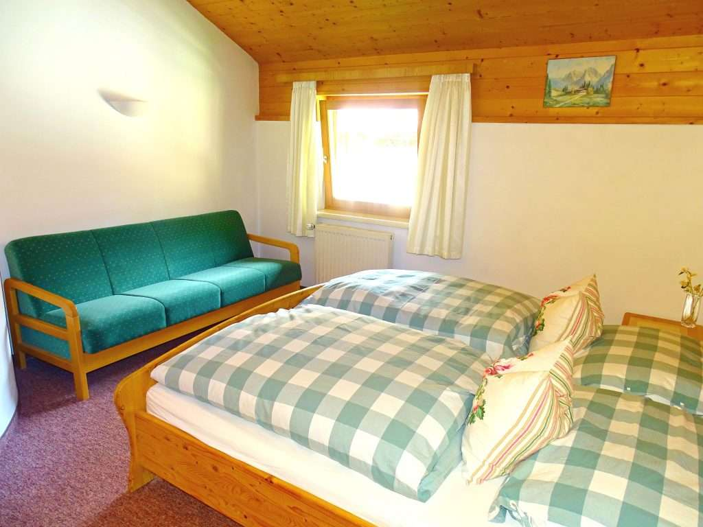 Aberg bedroom and sofa bed, Haus Schneeberg, Hochkoenig