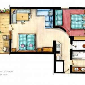 Grundriss der Wohnung Aberg - Haus Schneeberg <Hochkoenig