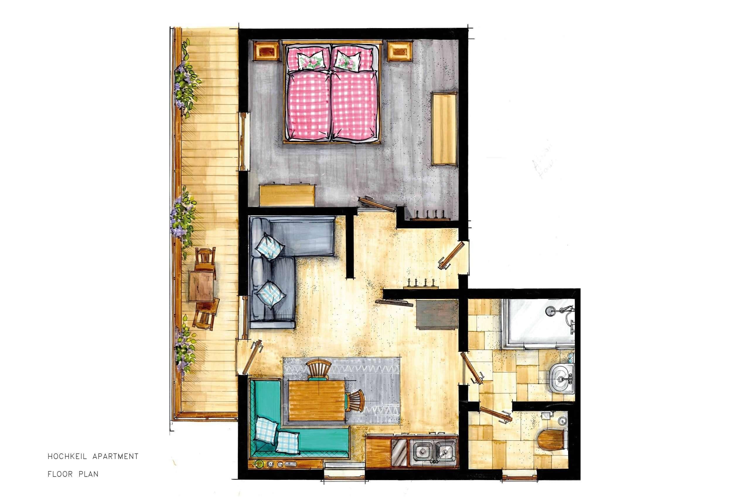 Hochkeil apartrment floor plan - Haus Schneeberg, Hochkoenig