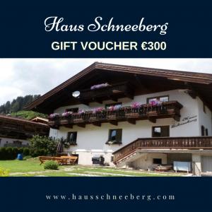 Gift Voucher €300 Haus Schneeberg