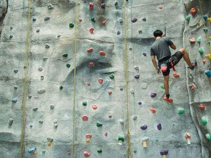 Vnitřní lezecká stěna