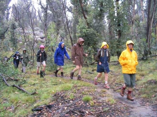 Turistika v dešti